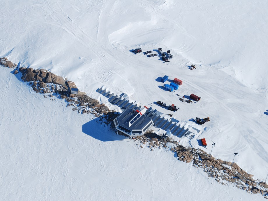 Aerial view of Princess Elisabeth Antarctica