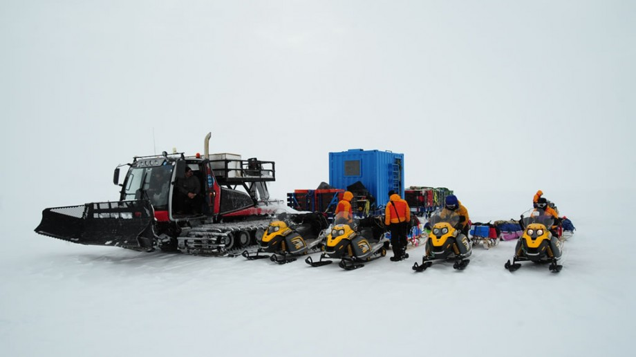 Japanese researchers preparing for a field expedition at Princess Elisabeth Antarctica, the first