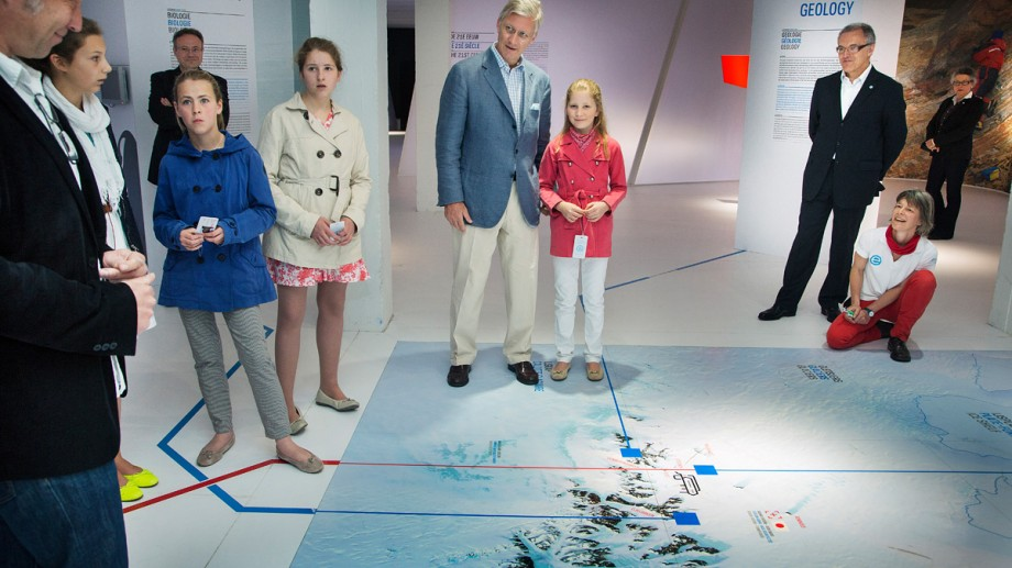 Belgium's Princess Elisabeth and Prince Philippe Visit Antarctic Station Exhibition