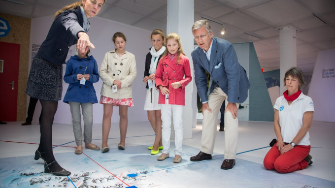 Princess Elisabeth and Prince Philippe Visit Antarctic Station Exhibition