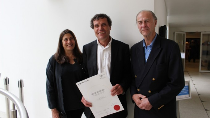 Alain Hubert receives 2015 Geographical Award in London