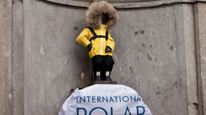 Brussels' Manneken-Pis Becomes a Polar Explorer